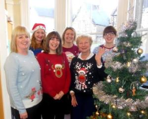 Ilkley team at Christmas