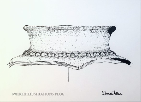 This is a photo of a drawing Oct. 2021. Early Bronze Pottery, Jordan. Fun to do.