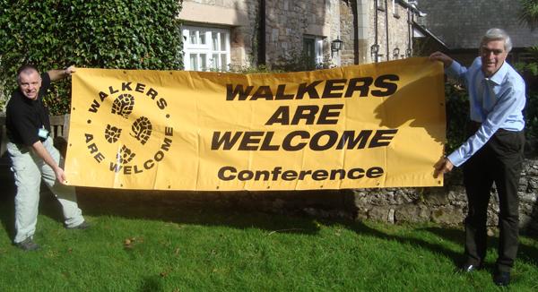 Sidmouth banner handover