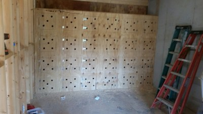 Crates in basement
