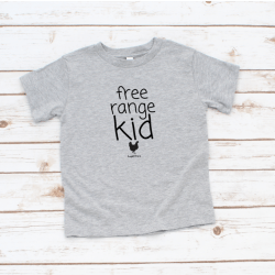 Free Range Kid T-shirt Grey