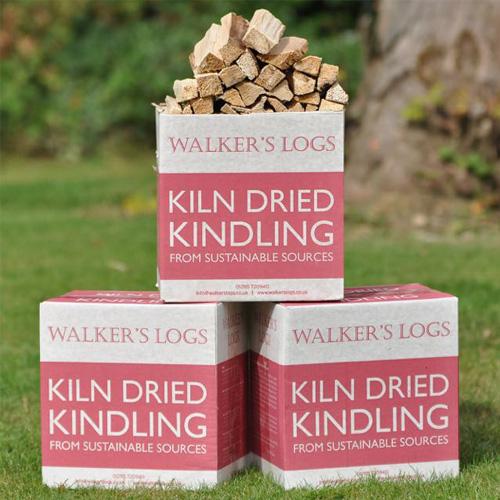 Kiln dried logs kindling 3 box