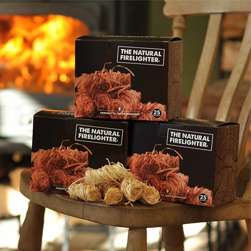3 boxes of natural firelighters