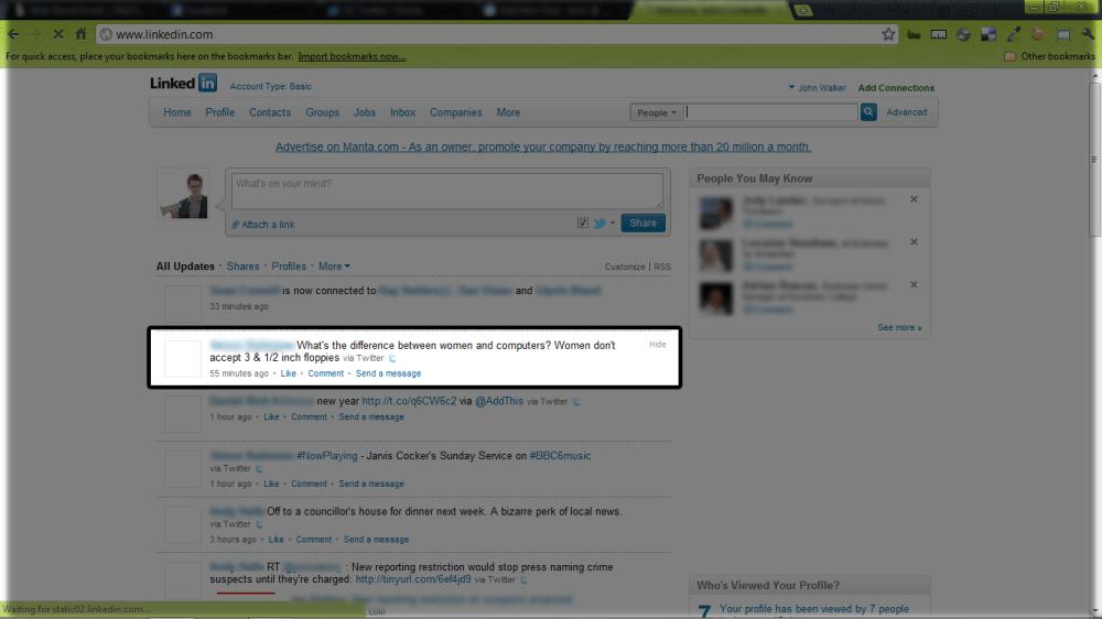 LinkedIn us together, oh Twitter!