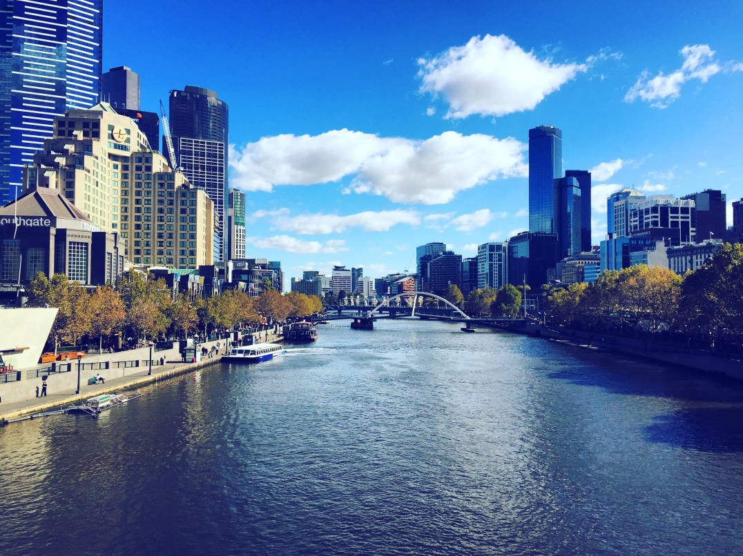 Looking down the Yarra
