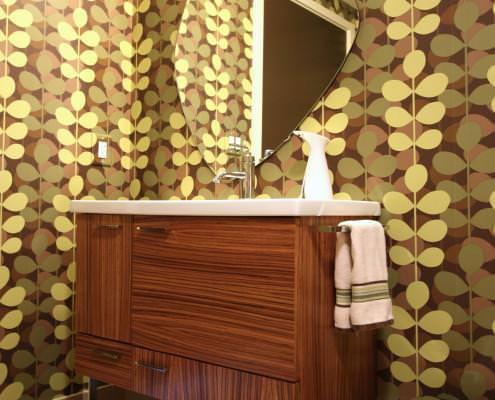 modern bathroom ideas,chrome feet,tiger wood,vanity,metal feet