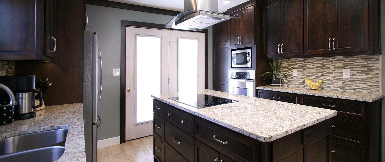 granite countertops,stainless hood,contemporary kitchen ideas,hardwood floor