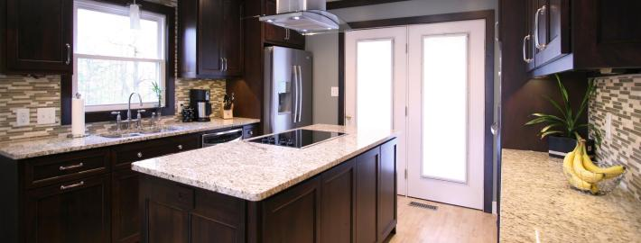 flat surface cooktop,stainless hood,contemporary kitchen,custom cabinets