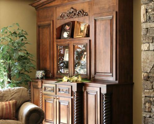 rope post,decorative trim,furniture quality cabinets,one of a kind,traditional