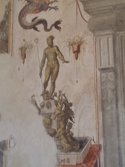 Il Nettuno affrescato al Castello di Torrechiara