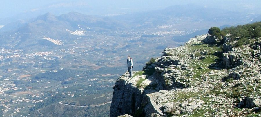 Self guided walking holidays, view from the Serra Carrascal de Parcent