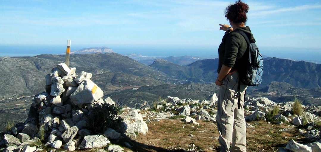 Walking holidays in Spain, view from the summit of Aixorta