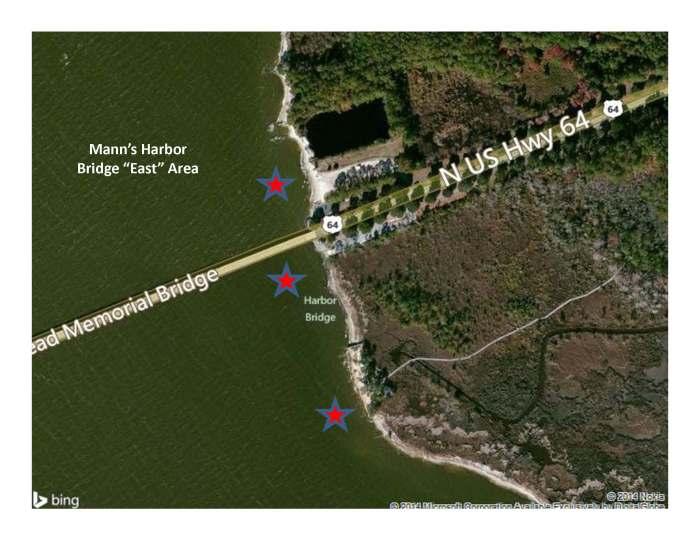 Manns Harbor Bridge East Area