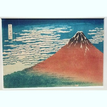 Mt. Fuji of Hokusai's Woodblock Print in The Sumida Hokusai Museum