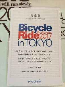 Bicycle Ride in Tokyo Certification
