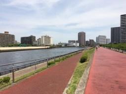 River Bank of the Sumida River in Minami Senju