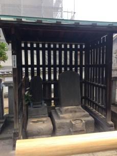 The grave of Chikara Oishi, the son of Kuranosuke