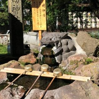 Hot Water of God in Hon-Miya of Suwa Taisha