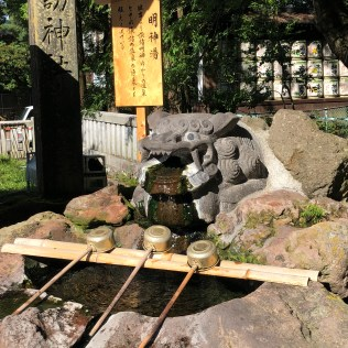 Hot Water of God in Hon-Miya of Suwa Taisha