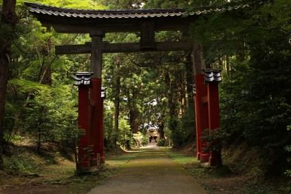 Main Gate of Ushio Jinja Shrine