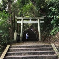 Torii Gate and steps towards the Inner Sanctuary
