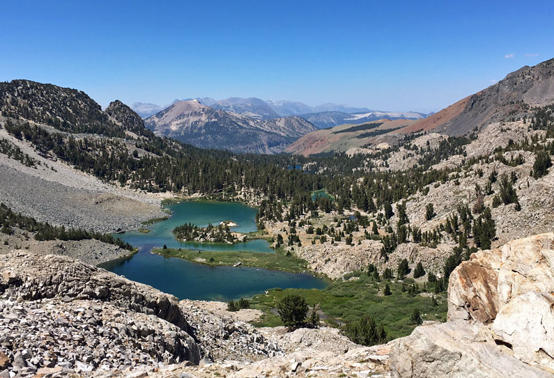 Setting out on the John Muir Trail