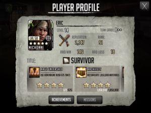 The Walking Dead Road to Survival - Raids Revenge Player Profile