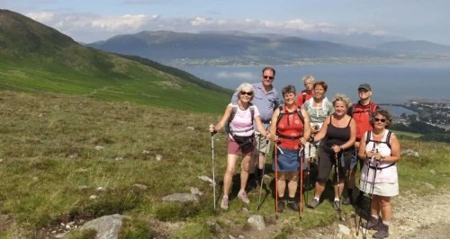 Guided walking tour walking holiday ireland on cooley peninsula above carlingford