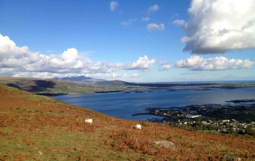 family hiking carlingford lough