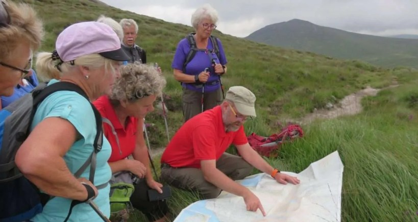 Guided walking group on the Mourne Way 3