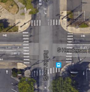 Rainier Ave S & S Henderson St (Google Maps)