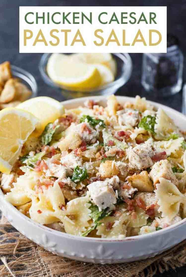 Chicken Caesar Pasta Salad from Simply Stacie