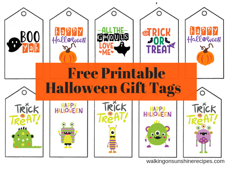 photo regarding Free Printable Halloween Labels identify Absolutely free Printable Tags for Birthday and Vacations!