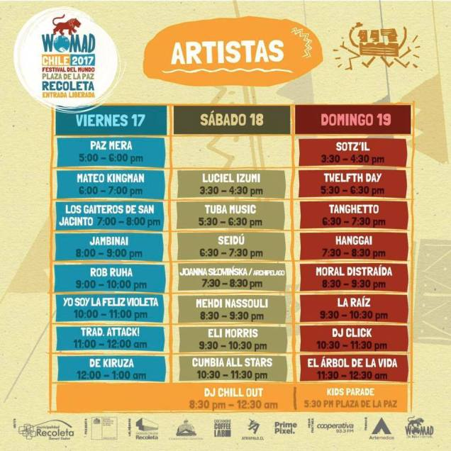 Festival Womad Chile-artistas