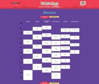 Horarios – Lollapalooza Chile - Sábado 01 abril 2017