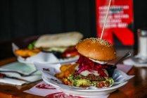 Una hamburguesa Lupita Stile Hamburger en el restaurante La Resistencia Credit Víctor Ruiz Caballero for The New York Times