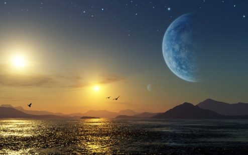 planet sun moon