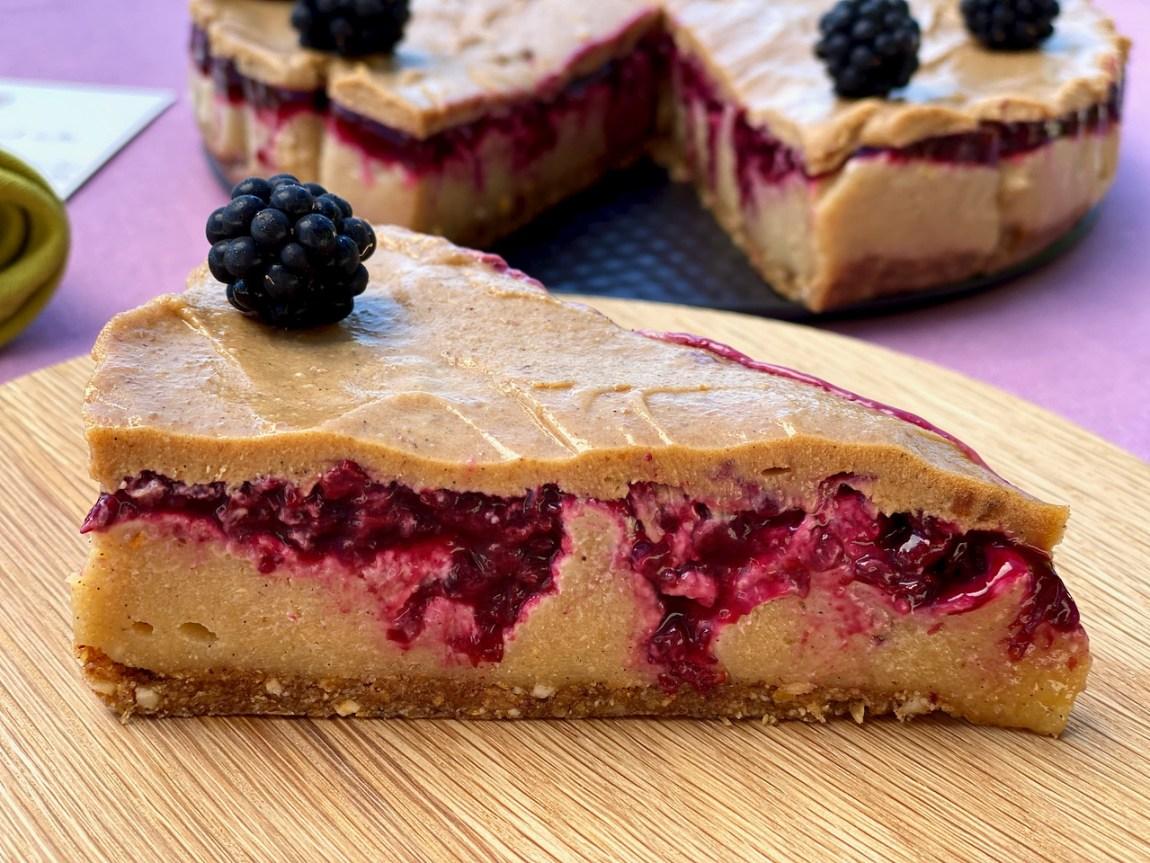 Vegan Blackberry Hazelnut Cheesecake 1