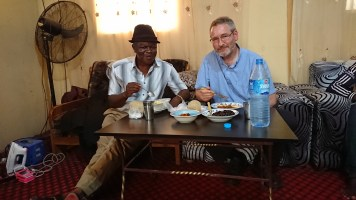 Lunch with the principal of All Nations Academy. Yummy Nigerian food!