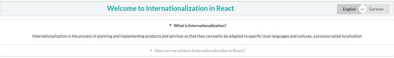 Internationalization in React - WalkingTree Technologies