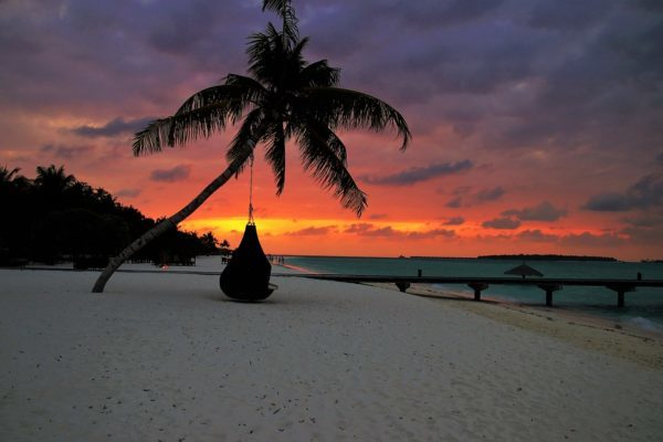 maldives in evening