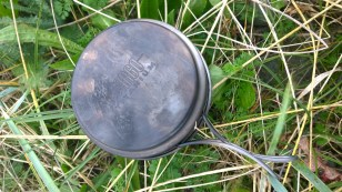 Vargo Titanium Ti-Boiler - Lid/pan with handles out-folded