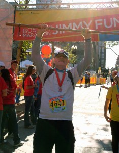 """Each year, I cry """"Victory"""" as I finish the Marathon Walk. But the real victory will only come when we can cure NET cancer in all its forms."""