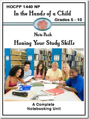HOCPP 1440 NP Note Pack Honing Your Study Skills