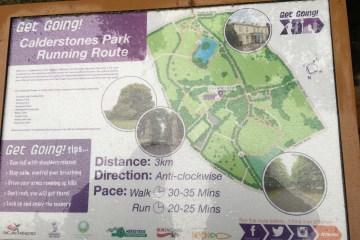 Get going Calderstones Park map