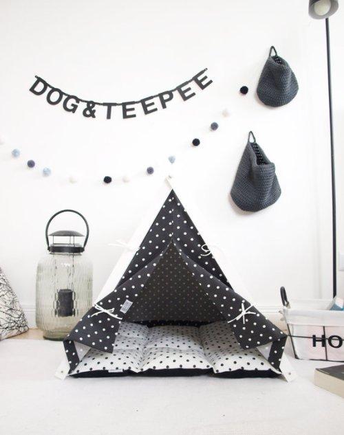 Dog bed teepee