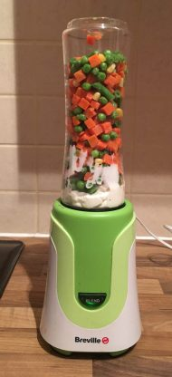 Vegetables in a breville blender