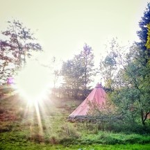 Finally our Tipi standing
