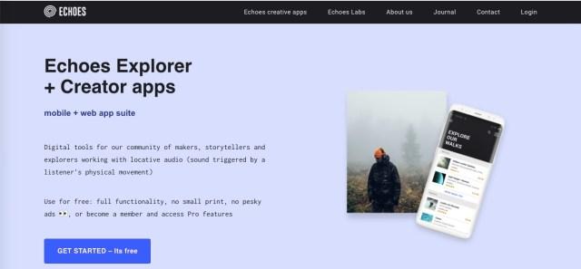 Screenshot of Echoes.
