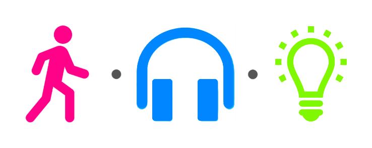 walk · listen · create